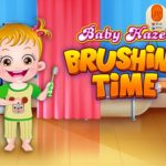 Baby Hazel Brushing Time